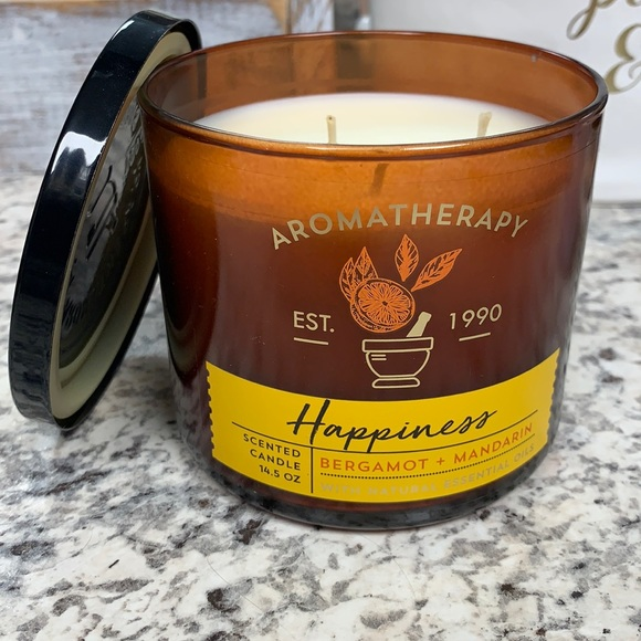 Aromatherapy Happiness 3 wick candle